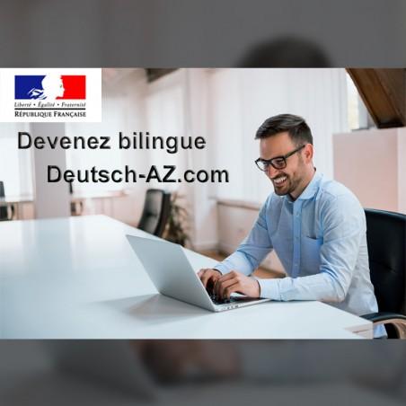 Devenez bilingue en Allemand  : formation 4,6,12 ou 18...