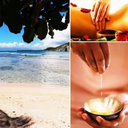 Duo de massage a la plage en duo : douceur du monde ® et TAO stretch • Au coeur de soi