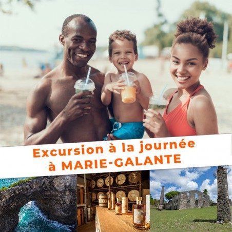 Excursion Marie-Galante : Billet AR + Visite guidée •...