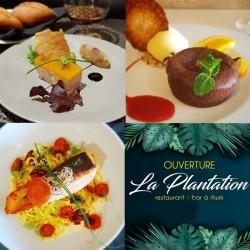 Formule midi ou soir : entrée + plat ou plat + dessert • Restaurant la Plantation