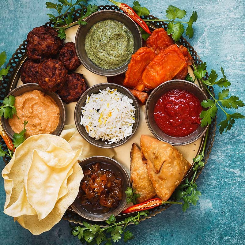 Menu végétarien : Entrée, Plat et Dessert au choix •  Restaurant le Gandhi Mix vegetable