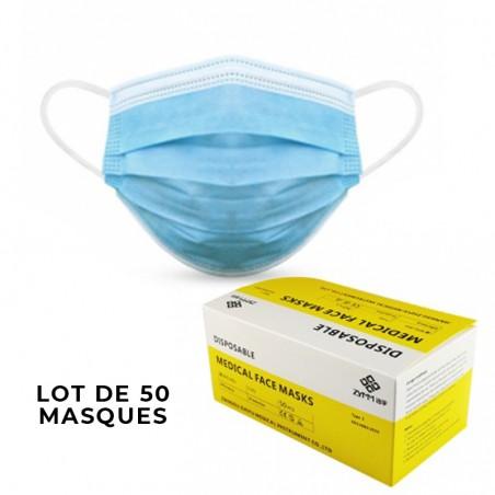 Protégez vous : Masques sanitaires 50 Unités
