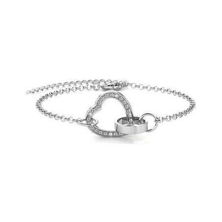 Bracelet Locked Heart ornée de cristaux de Swarovski •...