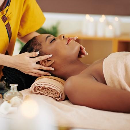 Soin visage, gommage, massage crânien et modelage...