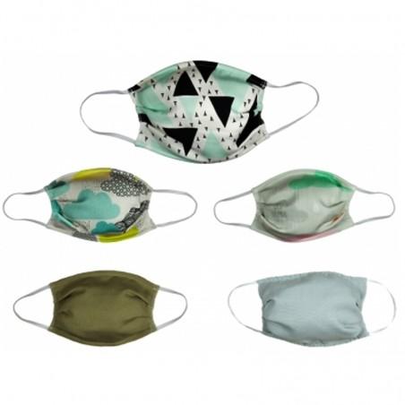 Lot de 5 masques en polyproprylène Taille Adulte• MYC Paris