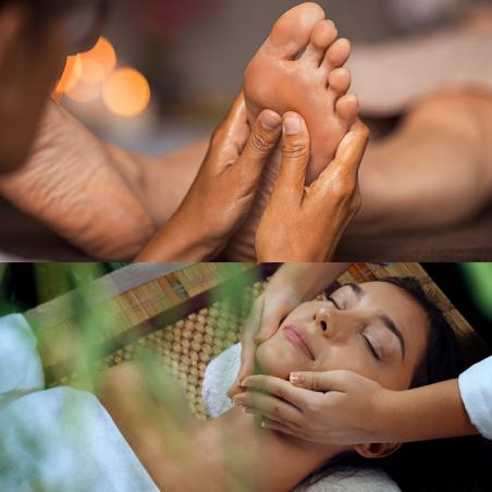 Massage bien-être buste et visage suivi d'une...