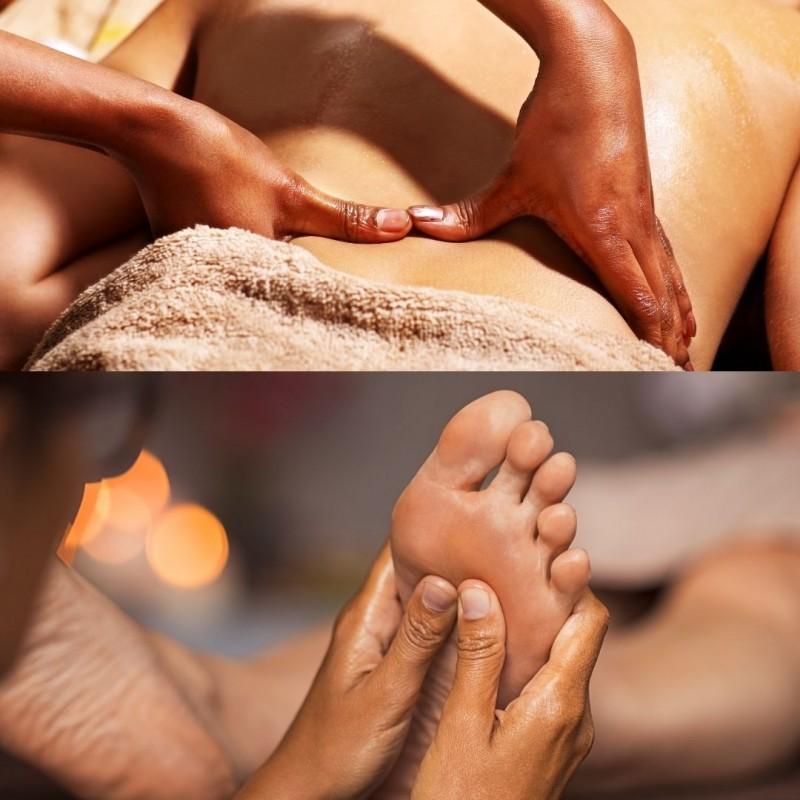 Anti-stress :  massage ayurvédique suivi d'une réflexologie plantaire • Anélya