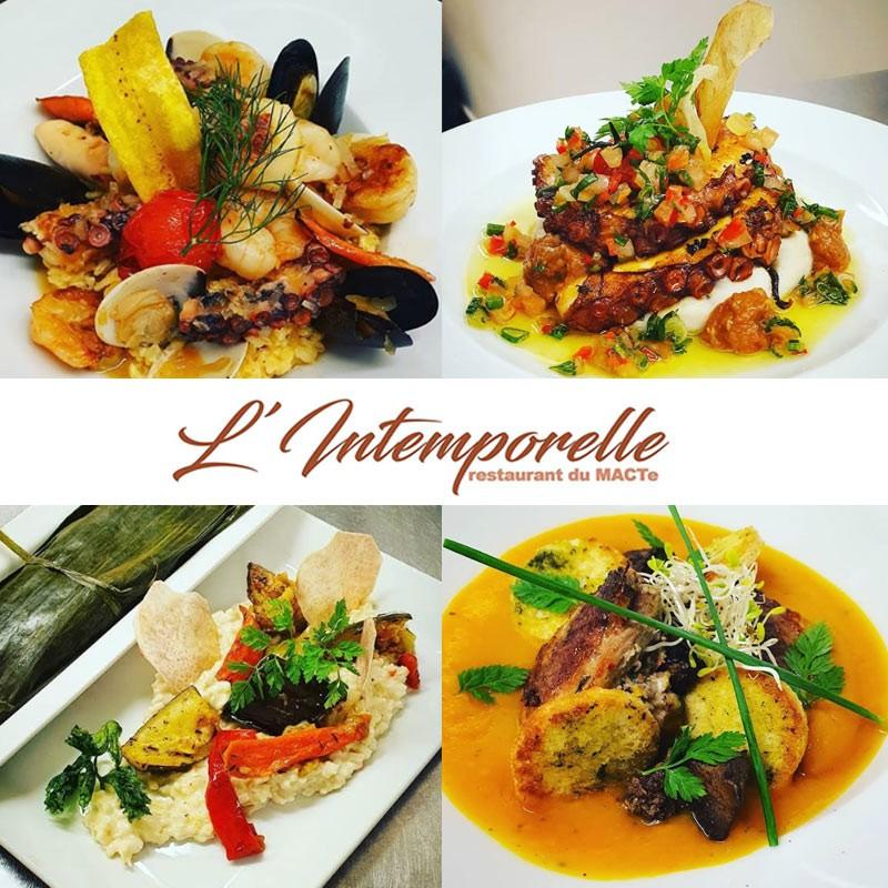 Restaurant L'intemporelle : Formule Midi avec entrée + plat + dessert au Mémorial ACTE