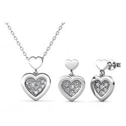 Parure Larine Love : collier et boucles d'oreilles  • MYC Paris