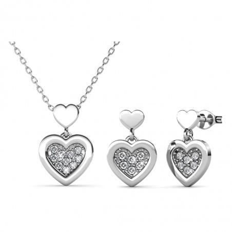 Parure Larine Love : collier et boucles d'oreilles  • MYC...