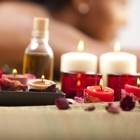 Soin anti-stress avec massage dos, nuque, épaules et...