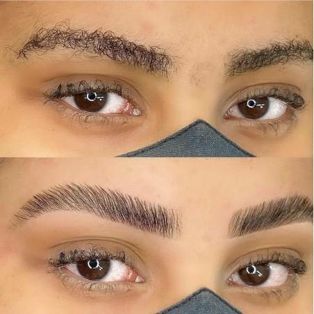 Teinture des sourcils par browlamination pour restructuré...